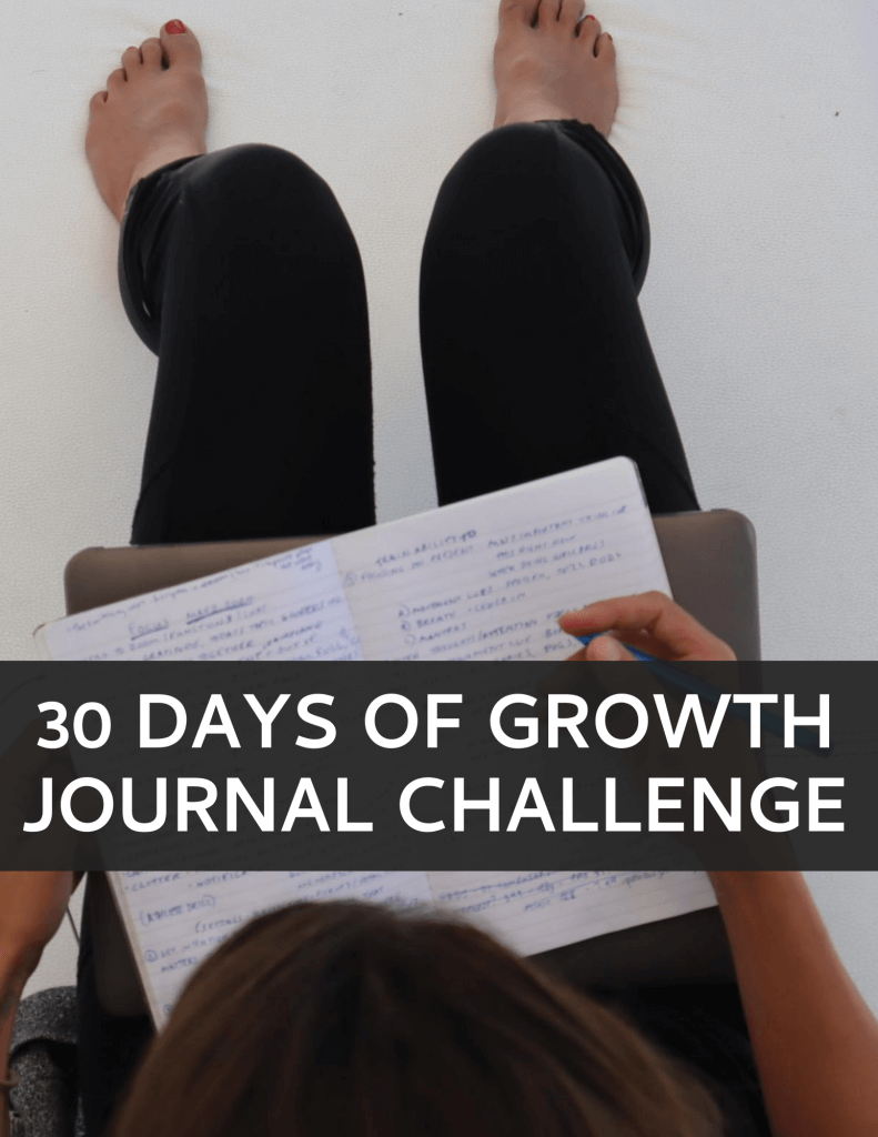 Growth Journal Challenge Cover